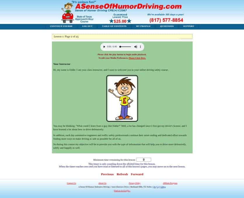A Sense of Humor Defensive Driving, the early days